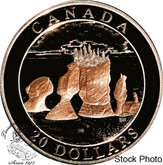 Canada: 2004 $20 Hopewell Rocks Gold Plated Silver Coin