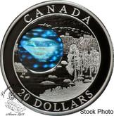 Canada: 2005 $20 Natural Wonders - Northwest Territories Diamonds Hologram Silver Coin