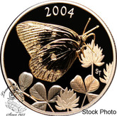Canada: 2004 50 Cents Clouded Sulphur Butterfly Silver Coin