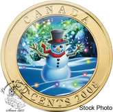 Canada: 2008 50 Cent Holiday Snowman Lenticular Coin