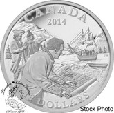Canada: 2014 $15 Exploring Canada - The West Coast Exploration Silver Coin