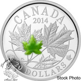 Canada: 2014 $20 Majestic Maple Leaves with Jade Silver Coin