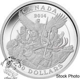 Canada: 2014 $30 Canadian Monuments - National Aboriginal Veterans Monument Silver Coin