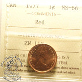 Canada: 1977 1 Cent ICCS MS66 Red Coin nr 6