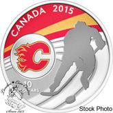 Canada: 2015 $10 Calgary Flames NHL Hockey Silver Coin