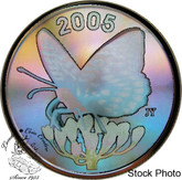 Canada: 2005 50 Cents Fritillary Butterfly Hologram Silver Coin
