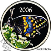 Canada: 2006 50 Cents Short-Tailed Swallowtail Butterfly Coloured Silver Coin