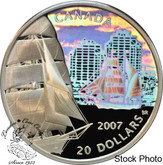 Canada: 2007 $20 Tall Ships - Brigantine Silver Hologram Coin