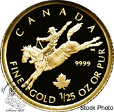 Canada: 2006 50 Cent Cowboy 1/25 oz Gold Coin