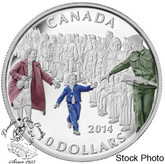 Canada: 2014 $10 Wait For Me Daddy Coloured Silver Coin