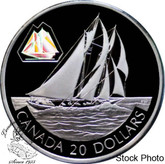 Canada: 2000 $20 The Bluenose Silver Hologram Coin