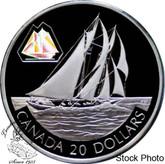 Canada: 2000 $20 The Bluenose Silver Hologram Coin