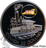 Canada: 2001 $20 The Scotia Train Silver Hologram Coin
