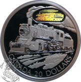 Canada: 2002 $20 D-10 Locomotive Silver Hologram Coin