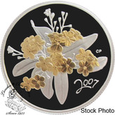Canada: 2007 50 Cents Golden Forget-Me-Not Silver Coin