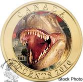 Canada: 2010 50 Cents Daspletosaurus Torosus Dinosaur Lenticular Coin