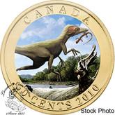 Canada: 2010 50 Cents Sinosauropteryx Dinosaur Lenticular Coin