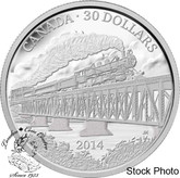 Canada: 2014 $30 100th Anniversary of the Completion of the Grand Trunk Pacific Railway Silver Coin