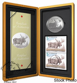 Canada: 2004 $5 Limited-Edition Stamp & Coin Set. The Majestic Moose