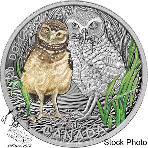 Canada 2015 $20 Beaver at Work Coloured Silver Coin