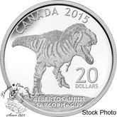 Canada: 2015 $20 Canadian Dinosaurs: Albertosaurus Silver Coin