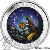 Canada: 2015 $25 Star Charts: The Wounded Bear Silver Coin