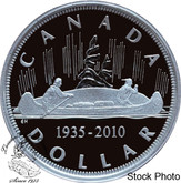 Canada: 2010 $1 Limited Edition Proof Silver Dollar - 75th Anniversary of the Voyageur Design 1935 -2010