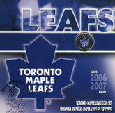 Canada: 2007 Toronto Maple Leafs Logo Coin Set with Coloured 25 Cent