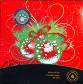 Canada: 2009 Holiday Gift Set with Santa Coloured Quarter