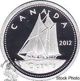 Canada: 2012 10 Cent Silver Proof Coin