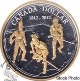 Canada: 2012 $1 200th Anniversary of the War of 1812 Proof Gold Plated Silver Dollar