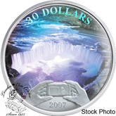 Canada: 2007 $30 Niagara Falls Panoramic Camera Silver Hologram Coin