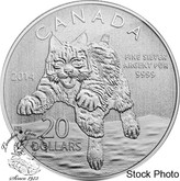Canada: 2014 $20 Bobcat $20 for $20 Silver Coin