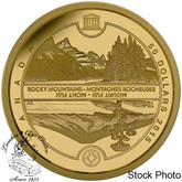 Canada: 2015 $50 UNESCO at Home and Abroad: Mount Fuji and The Canadian Rockies Gold Coin