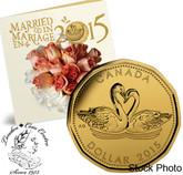 Canada: 2015 Wedding Coin Gift Set - Swans Loonie