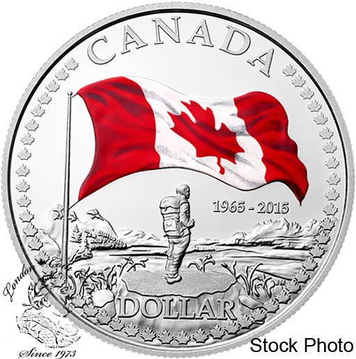 Canada 2015 1 Canadian Flag Red Amp White Coloured Pure