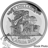 Canada: 2015 $5 Bank Note Series - Canadian Banknote Vignette Silver Coin