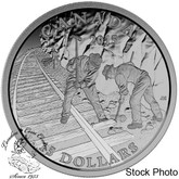Canada: 2015 $15 Exploring Canada Building the Canadian Pacific Railway Silver Coin