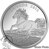 Canada: 2015 $100 for $100 Canadian Horse Silver Coin
