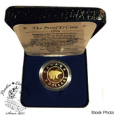 Canada: 1996 2 Dollar toonie Proof with Box & COA