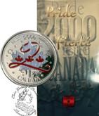Canada: 2000 25 Cent Pride Coloured Coin in Folder