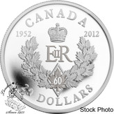 Canada: 2012 $20 The Queen's Diamond Jubilee Royal Cypher Silver Coin