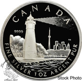 Canada: 2005 $20 Toronto Island Lighthouse Silver Coin