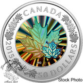 Canada: 2015 $50 Lustrous Maple Leaves Silver Coin