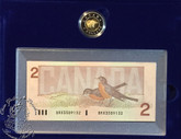 Canada: 1996 $2 PL Coin & $ Replacement Banknote Set
