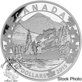 Canada: 2015 $10 Canoe Across Canada: Magnificent Mountains Silver Coin