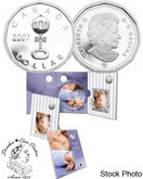 Canada: 2007 $1 Baby Lullabies CD & Sterling Silver Dollar Coin Set
