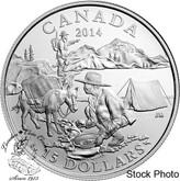 Canada: 2014 $15 Exploring Canada - Gold Rush Silver Coin