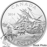 Canada: 2014 $15 Exploring Canada - The Arctic Expedition Silver Coin