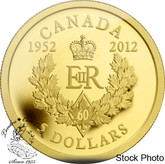 Canada: 2012 $5 The Queen's Diamond Jubilee Royal Cypher Gold Coin